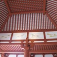 大極殿内部の天井と壁